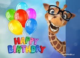 Znalezione obrazy dla zapytania urodziny żyrafki lokatki