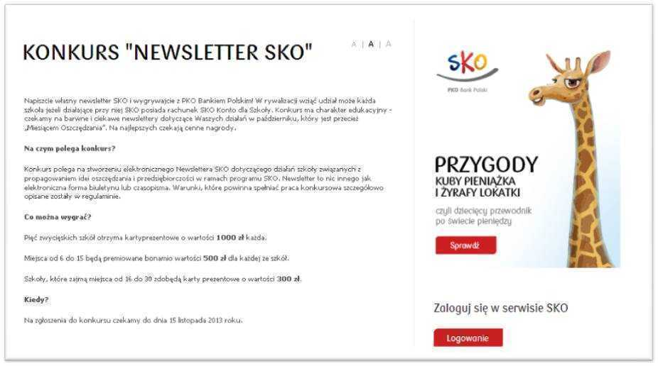 Konkurs Newsletter SKO